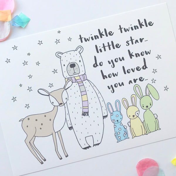 Illustration Print - Twinkle Twinkle Little Star