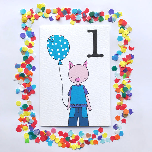 "Number 1 ""PIG"" Birthday Card"