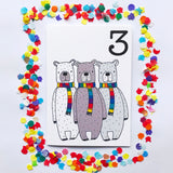"Number 3 ""BEARS"" Birthday Card"