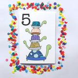 "Number 5 ""TURTLES"" Birthday Card"
