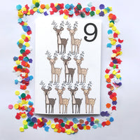 "Number 9 ""DEER"" Birthday Card"