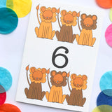 "Number 6 ""LIONS"" Birthday Card"