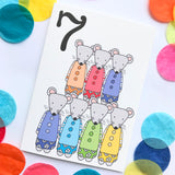 "Number 7 ""MICE"" Birthday Card"