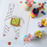 Christmas Card-Llama Traditional