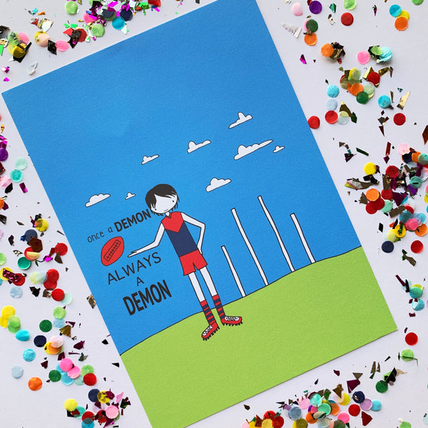 CLEARANCE SALE - A4 AFL Football  Print