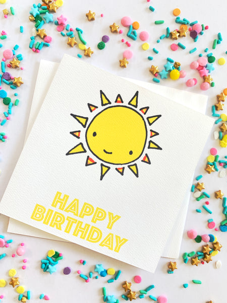 Happy Birthday Sun Card