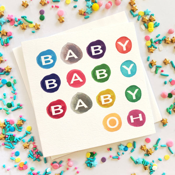 Baby Baby Baby Oh Card
