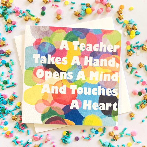 Teacher - Confetti Card