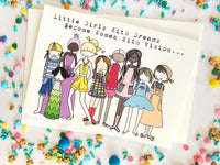 Little Girls With Dreams Card