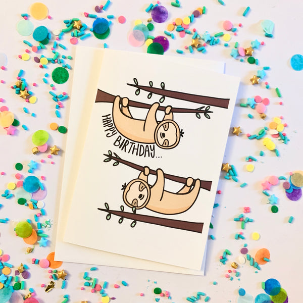 Happy Birthday - Sloth Card