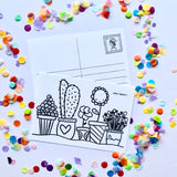 DIY Postcards - Colour them, Write on Them, Post Them!!