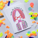 Teacher - Thanks for Believing in Me Card