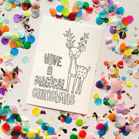 CHRISTMAS DIY Postcards - Colour them, Write on Them, Post Them!!