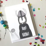 Happy Birthday Viking Card