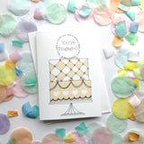 Engagement Cake Card