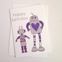 Happy Birthday Robots Card