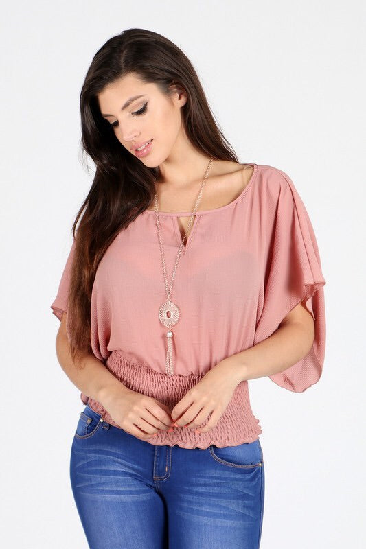 Mauve Flow Top