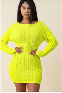 Neon Sweater Dress