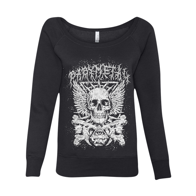 BONE WOMENS WIDE NECK SWEATSHIRT - BABYMETAL