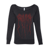 SPLATTER WOMENS WIDE NECK SWEATSHIRT