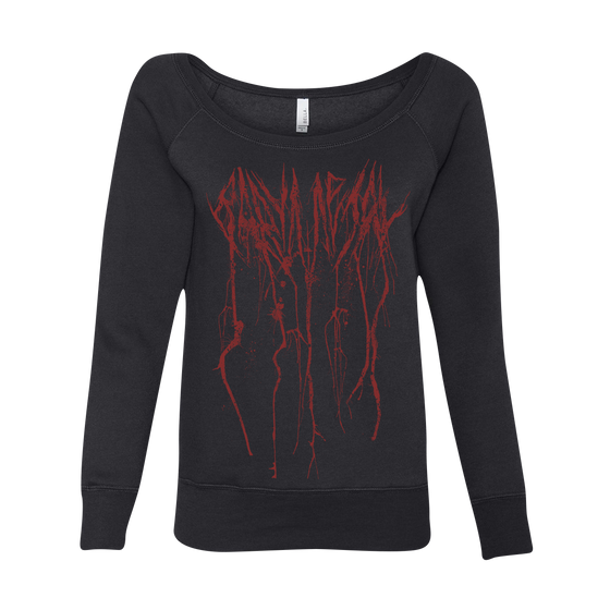SPLATTER WOMENS WIDE NECK SWEATSHIRT-BABYMETAL