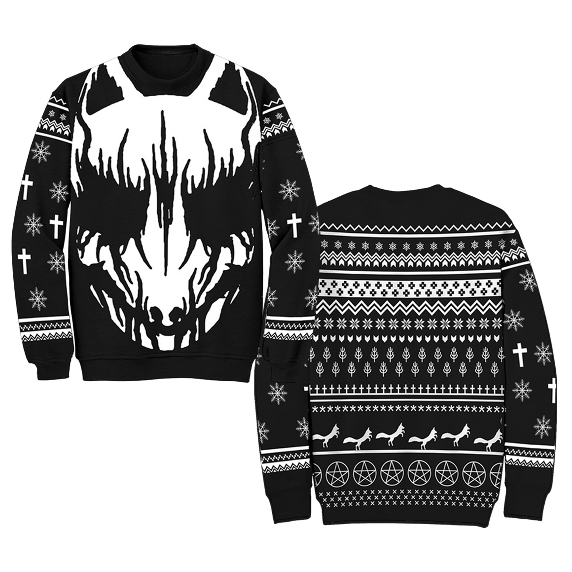"""WHITE FOX"" UGLY HOLIDAY SWEATER-BABYMETAL"