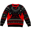 """RED MOON"" Holiday Knit Sweater"