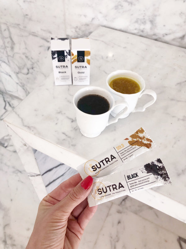 Travel Sticks 10 Black + 10 Gold Lattes - SUTRA