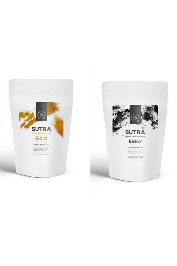 Bulk 'Home' Black + Gold Superfood Lattes - SUTRA