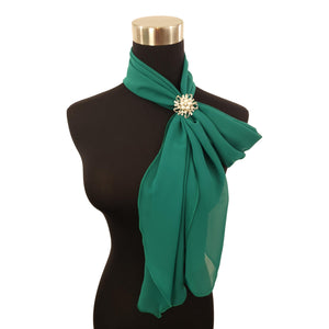 Chiffon Neck Scarf and Ring Set (Emerald)