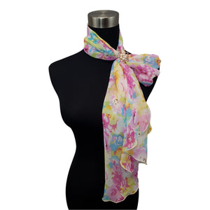 Chiffon Neck Scarf and Ring Set (Summer Pastel)