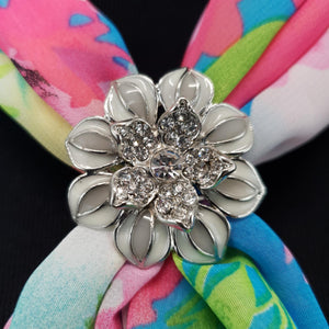Chiffon Neck Scarf and Ring Set (Spring Floral)