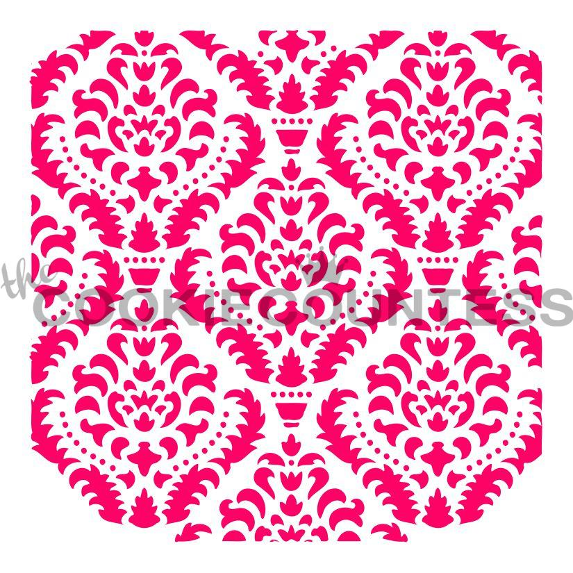 "Stencil n° 120: ""Ornate Damask"""