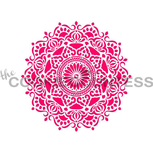 "Stencil n° 122: ""Ornate Medallion / Mandala"""