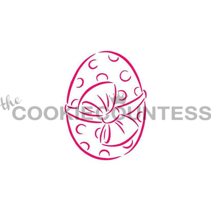 "Stencil n° 161: ""Easter Egg with Bow"""