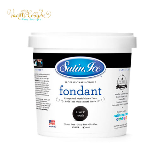 Fondant Satin Ice Color Negro (1kg)