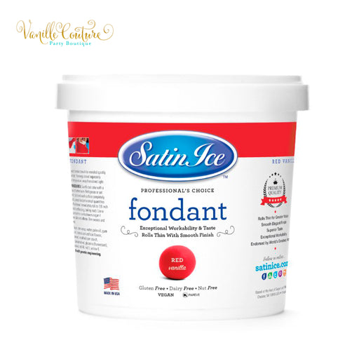 Fondant Satin Ice Color Rojo (1kg)