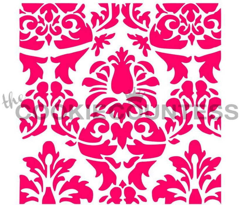 "Stencil n° 30: ""Lovely Damask"""