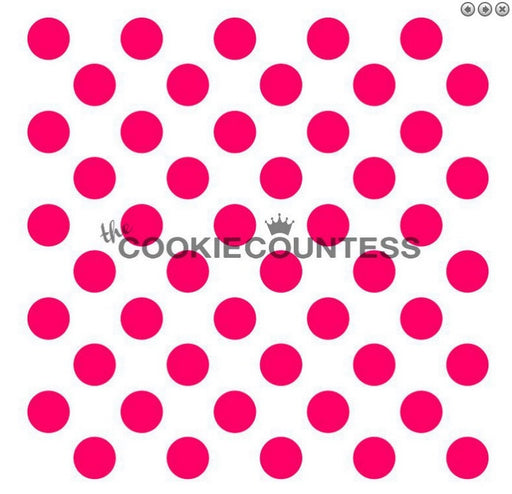 "Stencil n° 118: ""Medium Polka Dots"""