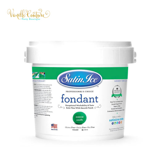 Fondant Satin Ice Color Verde (1kg)