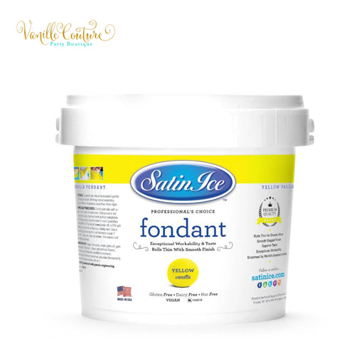 Fondant Satin Ice Color Amarillo (1kg)