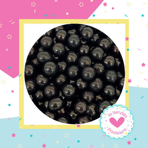 01 Sprinkles - Perlas de chocolate color negro (grandes)