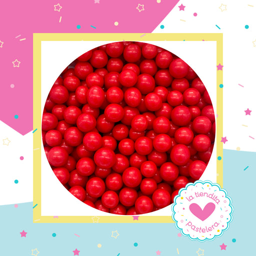 04 Sprinkles - Perlas de chocolate color rojo (grandes)