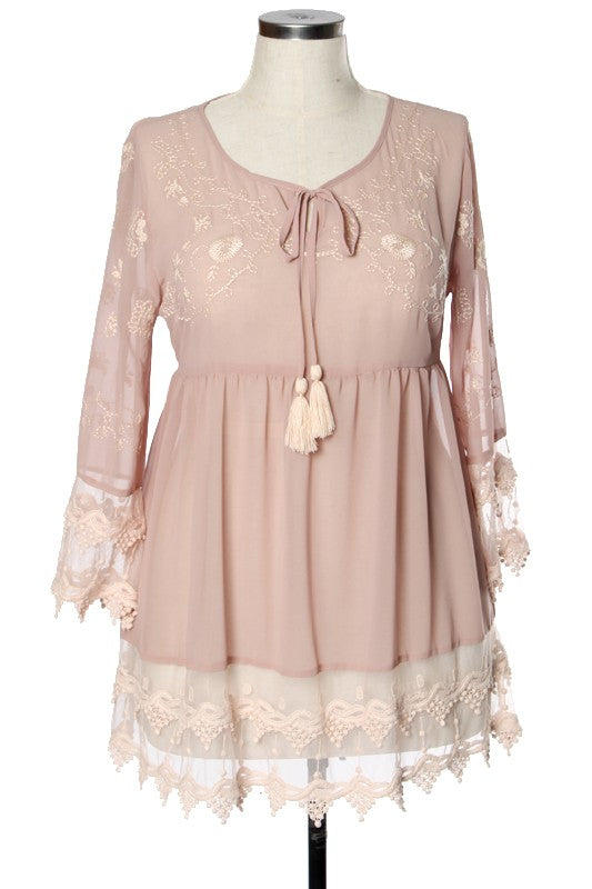Rose Luxe Top - Magnolia Lace Boutique