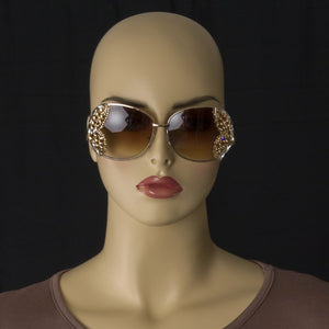 Brown Austrian Crystal Sunnies - Magnolia Lace Boutique