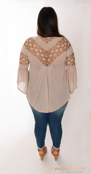 Cocoa Luxe Top - Magnolia Lace Boutique