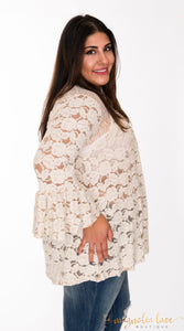 Ivory Luxe Top - Magnolia Lace Boutique