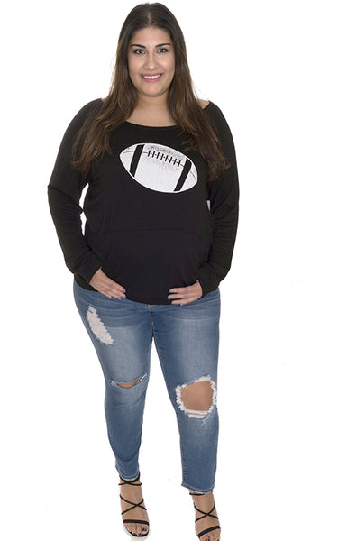 Football Game Day Top CURVY