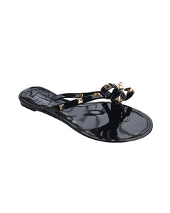 Jelly Gold Stud Sandals (Black) *FINAL FEW*