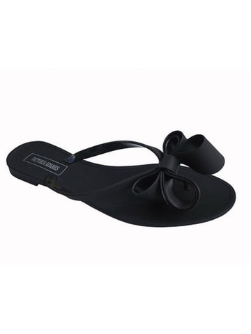 Jelly Bow Sandal (Matte Black)